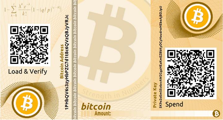 Beispiel eines Paper Wallets (erstellt auf bitaddress.org). Da sind ein paar bits drauf mal sehen wie lange es dauert bis die weg sind :-)