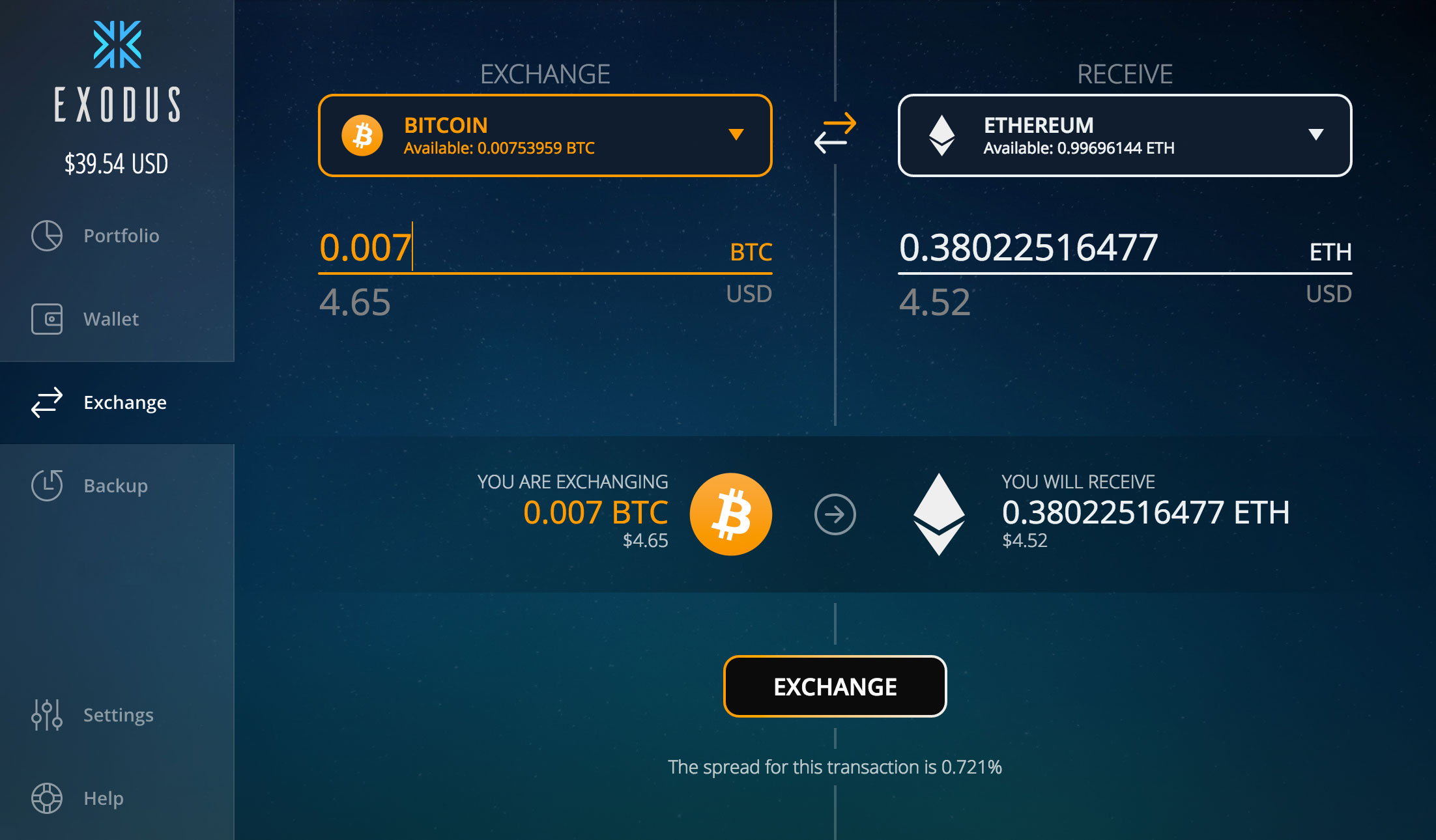 Exodus Exchange